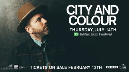 2016 TD Halifax Jazz Festival: Presented by Sonic Concerts in Association with the Halifax Jazz Festival: CITY AND COLOUR at Main Stage Thu Jul 14 2016 at 8:30 pm