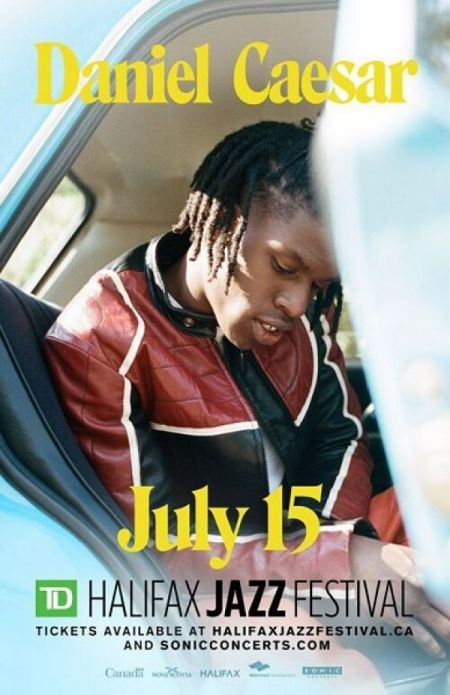 2018 TD Halifax Jazz Festival: DANIEL CAESAR at Halifax Waterfront Stage Sun Jul 15 2018 at 8:30 pm